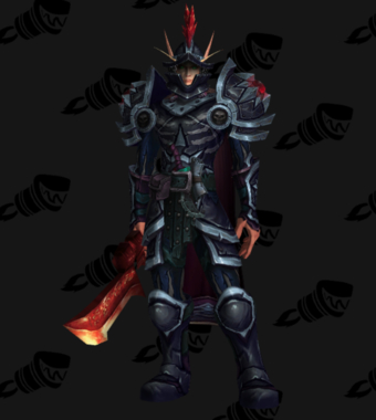 Warrior PvP Arena Warlords Season 2 Blue Horde Male Set