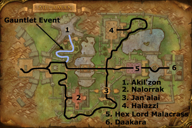 Zul'Aman map